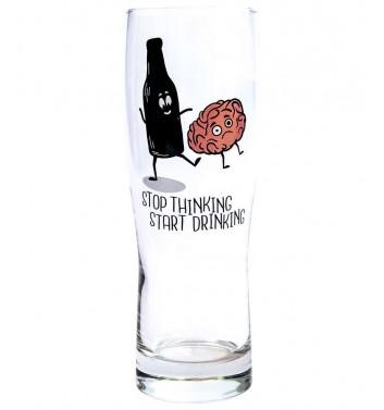 Бокал для пива Papa Design Stop thinking