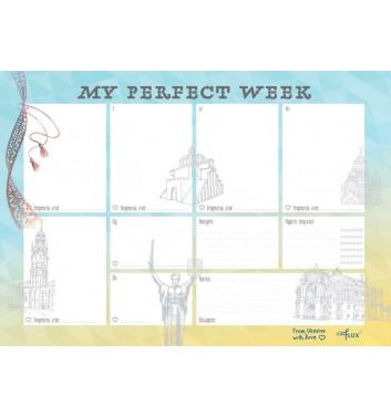 Еженедельник-планер отрывной Lifeflux A4 My perfect week Embroidery