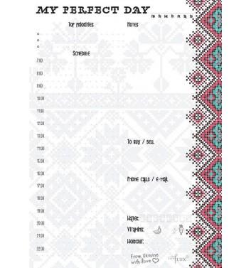 Ежедневник отрывной Lifeflux A5 My perfect day Embroidery