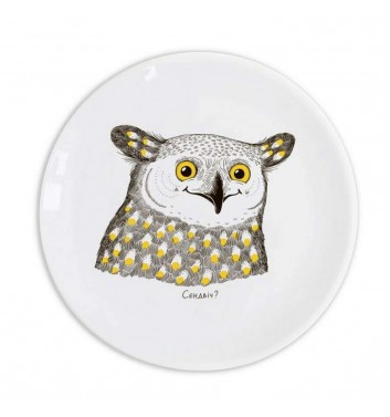Plate Orner Store Happy Owl