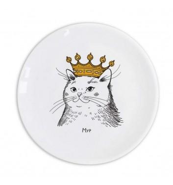 Тарелка Orner Store Кошка в короне