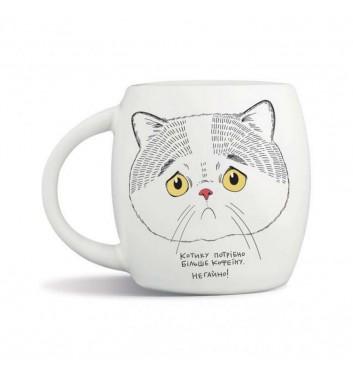 Кружка Orner Store Грусный котик