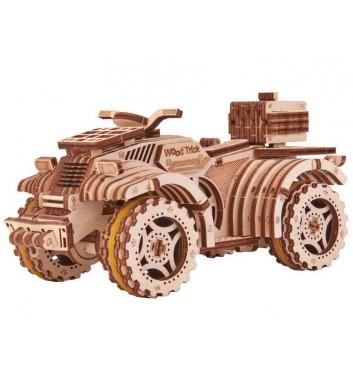 Mechanical 3D puzzle Wood Trick Quad bike