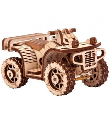Механический 3D пазл Wood Trick Квадроцикл ATV