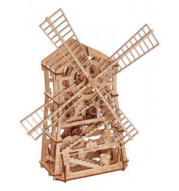 Mechanical 3D puzzle Wood Trick Mechanical mill