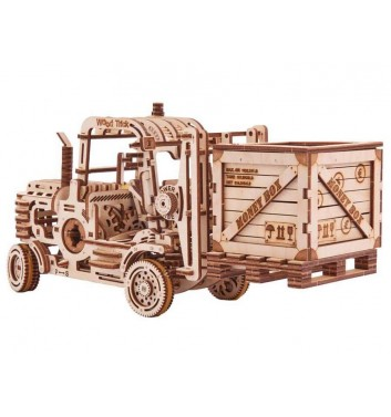 Mechanical 3D puzzle Wood Trick Forklift