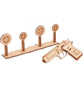 Механический 3D пазл Wood Trick Пистолет