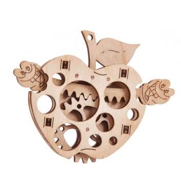 Механічний 3D пазл Wood Trick Вудік Яблуко