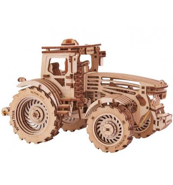 Mechanical 3D puzzle Wood Trick Tractor