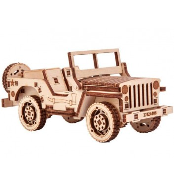 Mechanical 3D puzzle Wood Trick Jeep