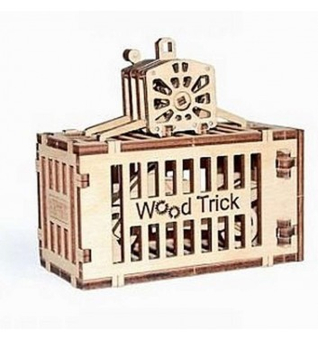 Mechanical 3D puzzle Wood Trick Container from the tap