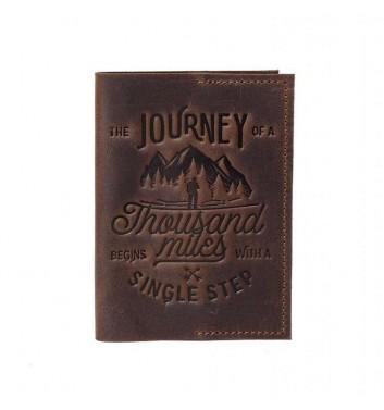 Обкладинка на паспорт Raystone 1000 миль Коричневий