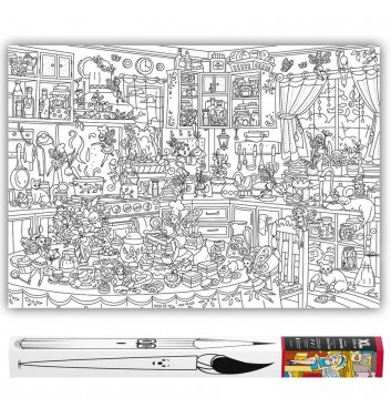 Большая раскраска XL O'Kroshka Кухонные Феи