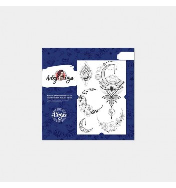 Temporary tattoos Arley Sign Flowers and space