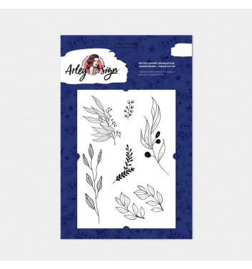 Temporary tattoos Arley Sign Set of black twigs