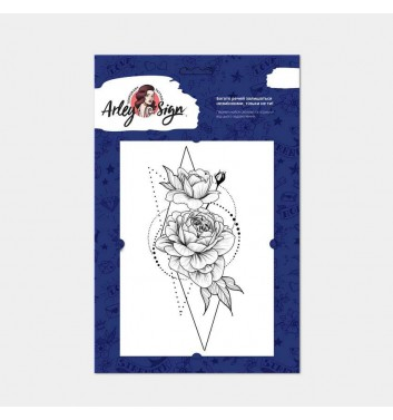Temporary tattoos Arley Sign Roses in geometry