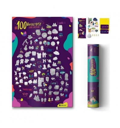 Мотиваційний скретч-постер 1dea.me 100 справ Love edition EN