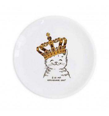 Детская тарелка Orner Store Котенок в короне