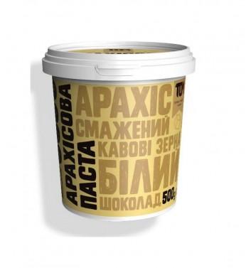 Арахісова паста TOM (Maslotom) з білим шоколадом та кавовими зернами 500 г