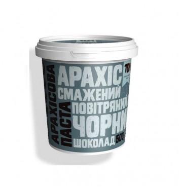 Арахісова паста TOM (Maslotom) з чорним шоколадом та повітряним рисом 500 г