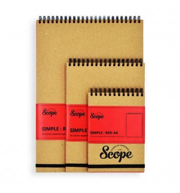 Notebook Scope Simple Red