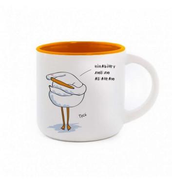 Чашка Gifty Гусь Абажаю Orange