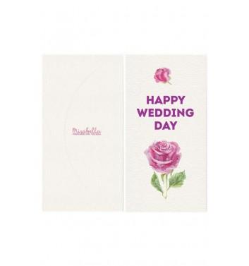 Конверт для грошей Mirabella postcards Happy Wedding Day White
