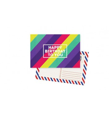 Листівка Mirabella postcards Happy Birthday Colored