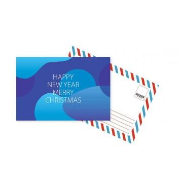 Листівка Mirabella postcards Happy New Year and Merry Blue
