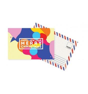 Листівка Mirabella postcards Happy New Year and Merry Christmas Colored
