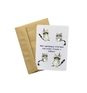 Листівка EgiEgi Cards Єноти танцюють