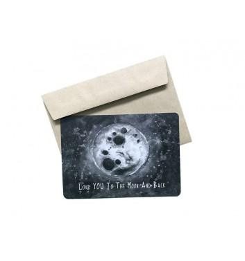 Листівка EgiEgi Cards Місяць
