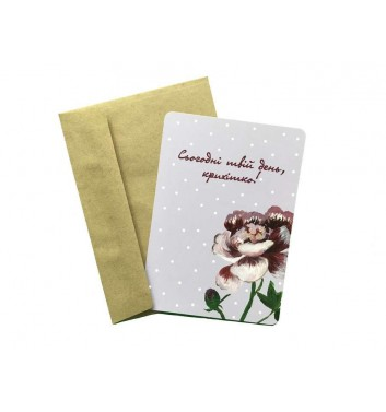 Листівка EgiEgi Cards Піон