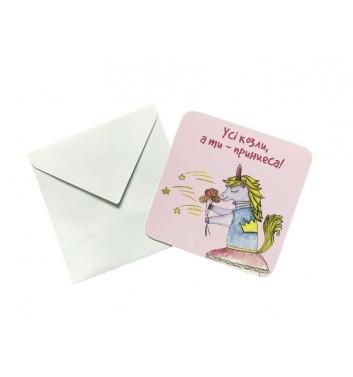 Мини открытка EgiEgi Cards Единорог