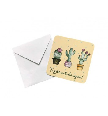 Міні листівка EgiEgi Cards Кактус
