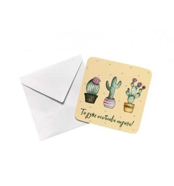 Мини открытка EgiEgi Cards Кактус