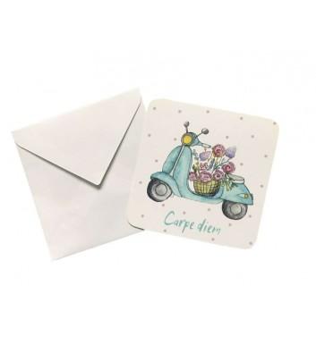 Мини открытка EgiEgi Cards Мопед