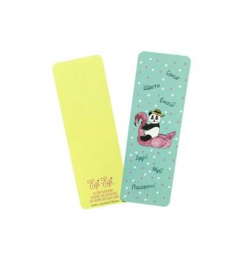 Закладка EgiEgi Cards Панда фламинго