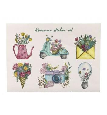 A set of stickers EgiEgi Cards Awesome