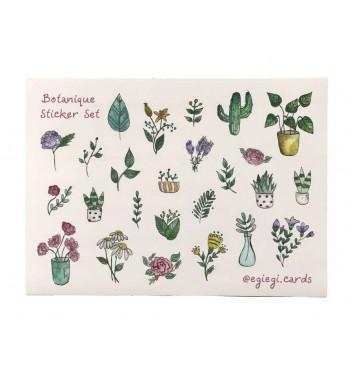 Набор наклеек EgiEgi Cards Ботанический