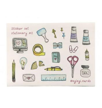 A set of stickers EgiEgi Cards Stationery №2