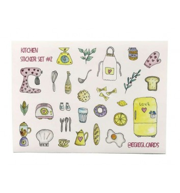 A set of stickers EgiEgi Cards Kitchen №2