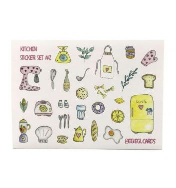 A set of stickers EgiEgi Cards Kitchen №2