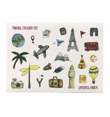 A set of stickers EgiEgi Cards Travel №1