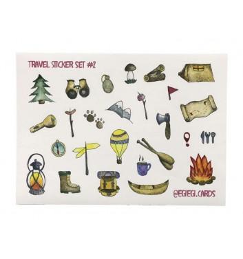 A set of stickers EgiEgi Cards Travel №2