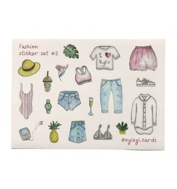 A set of stickers EgiEgi Cards Fashion №2