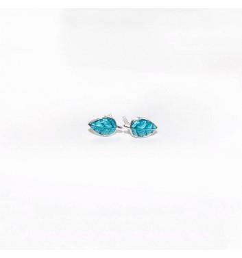 Серьги Argent jewellery Leaf Turquoise