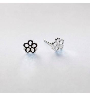 Earrings Argent jewellery Empty Flowers