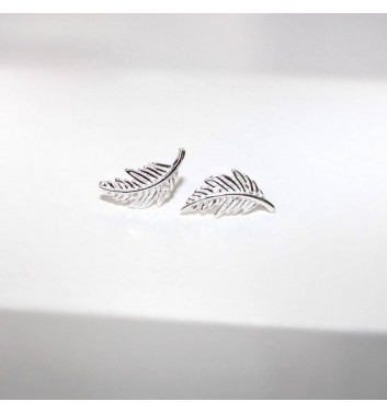 Earrings Argent jewellery Feathers large
