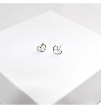 Earrings Argent jewellery Empty Hearts
